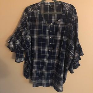 Tops - Simply Emma Checkered Blouse